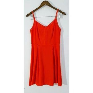 DYNAMITE bright red fit and flare cami dress